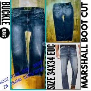 Buckle Jeans Size 34X34 Marshall Boot Cut EUC